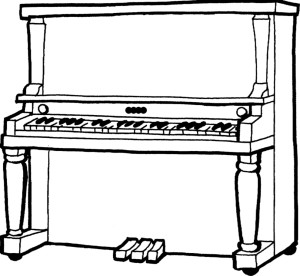 pianoforte da colorare