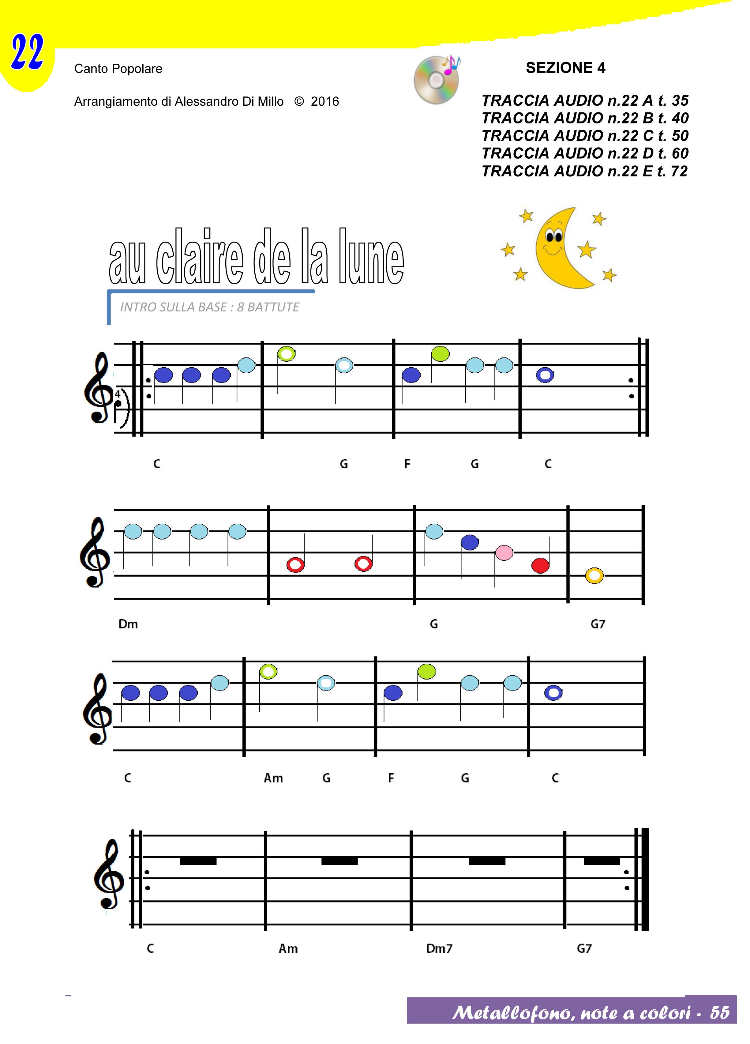 Suoniamo au claire de la lune spartito e base musicale - Immagini violino a colori ...