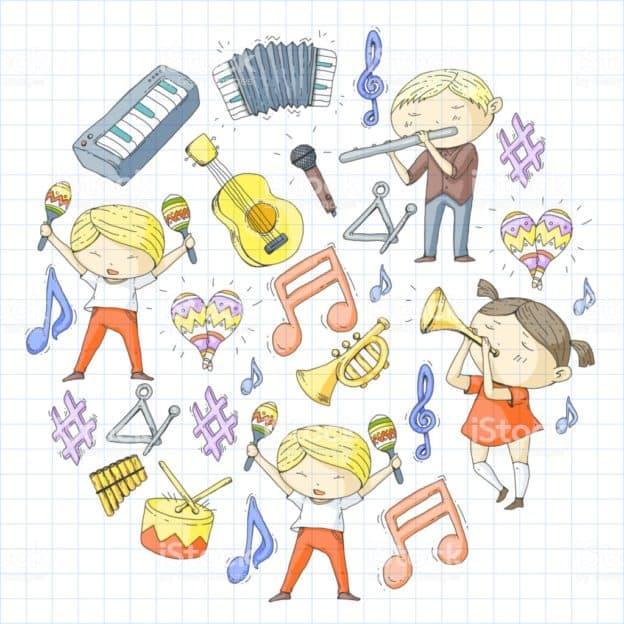 Scheda Strumenti Musicali Ascolta Il Timbro E Colora