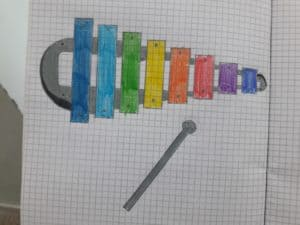 disegno del metallofono